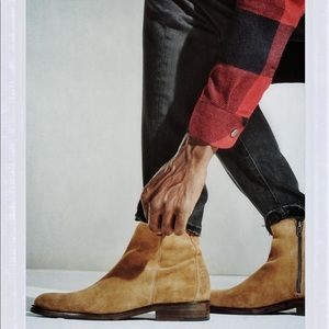 GQ + Steve Madden Suede boots 'Fred'